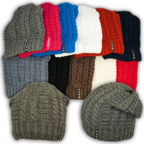 Вязаная шапка с защипом для девочек, подкладка флис, V279