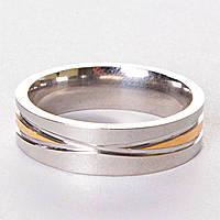 [17,18,19,20] Мужское обручальное кольцо двуцветное сечение 18