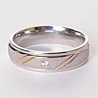 [17,18,19,20] Мужское кольцо обручальное  страза  17