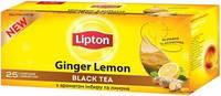 Чай Липтон Ginger Lemon чёрный с имбирём и лимоном 25 пакетов по 1.8г
