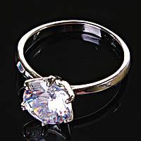[17,18,19] Кольцо Помолвочное корона крупная с камнем 18