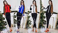 Модный женский комбинезон в расцветках норма / Украина / шифон+костюмка