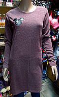 Платье ангора Микки размер М бордо
