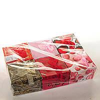 Подарочная коробочка для украшений  с подушечкой Розы Сердца большая 6 шт. [9/9/6 см]