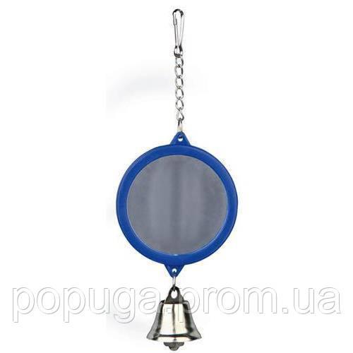 Trixe Зеркало с колокольчиком для попугая