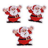 Пуговица Дед Мороз 37*35 мм 5 штук (товар при заказе от 200 грн)