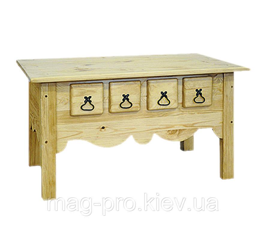 Стол журнальный деревянный, сосна (натуральное дерево)