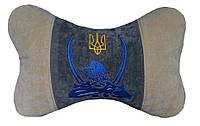 Автомобильная подушка подголовник для шеи Бабочка