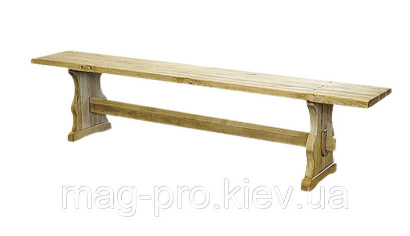 Лавка деревянная, сосна (натуральное дерево), фото 2