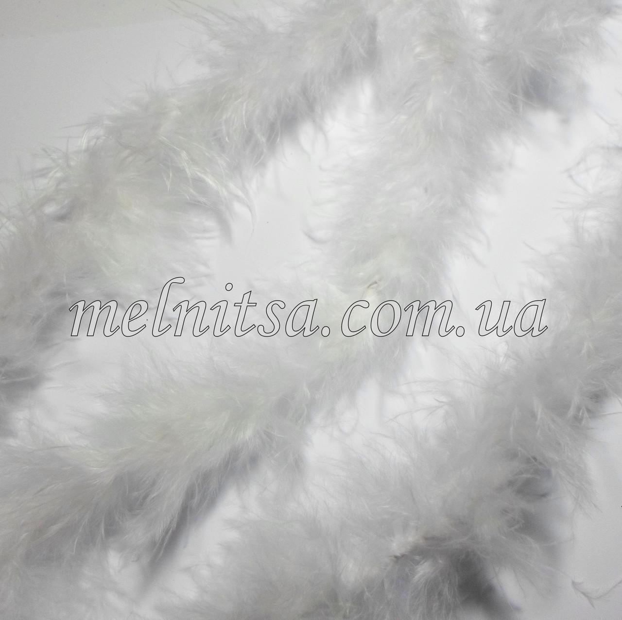 Пух на нити, 1,8 - 2 м, цвет белый, ширина 4 см