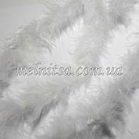 Пуховое тонкое боа, пух на нити, 1,8 м, цвет белый, ширина 4 см