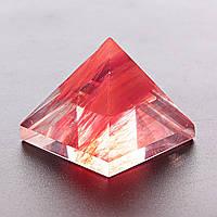 Пирамида сувенир Турмалин арбузный h-3,2см b-3,8см