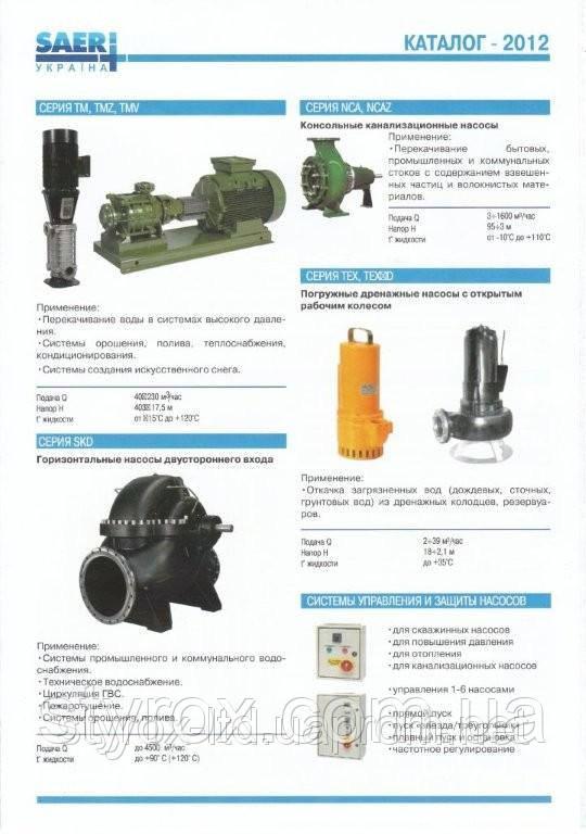 Pump equipment Saer, Tsurumi, Imp.