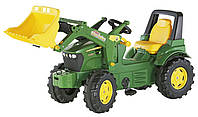 Трактор педальный Rolly Toys rolly Farmtrac John Deere зеленый