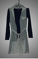 Стильный комплект ( кардиган+свитер) для девочки,Турция