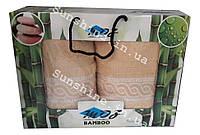 Набор полотенец Турция Moz Бамбуковые 100% в подарочной коробке 2 предмета