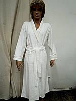 Халат женский длинный велюр кремовый Marilyn, фото 1