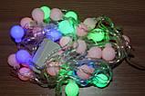 Гирлянда светодиодная, шарики 50 LED Мульти,двухцветная, фото 3