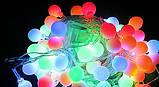 Гирлянда светодиодная, шарики 50 LED Мульти,двухцветная, фото 4