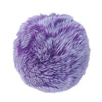Брелок бубон  на резинке нат. мех 5 см фиолетовый