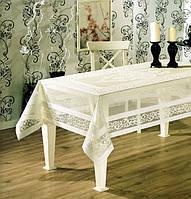 """Скатерть для стола """"WENESSI"""" 160X220 см, кофе с молоком"""