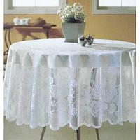 """Скатерть для стола """"WENESSI"""" круглая D160, кофе с молоком"""