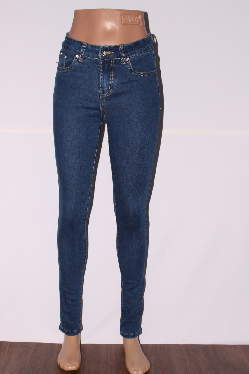 Женские джинсы с высокой талией (американка) (код М-020)