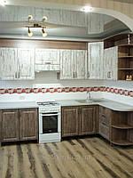 Кухня Прованс, угловая, пленочная, классическая, фото 1