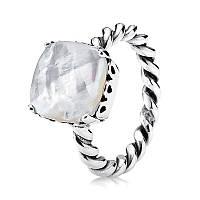 """Серебряное кольцо """"Перламутровая дорожка"""" Pandora, 190828MP"""