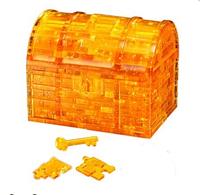 Пазл 3D кристалл «Сундучок» со светом (9006A)