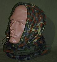 Зимний флисовый БАФ (шарф-труба) в расцветке Flecktarn. НОВЫЙ, UA.