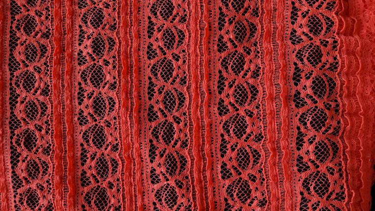 Ткань Гипюр Красный  продажа, цена в Харькове. ткани для домашнего ... 86e3ad40700