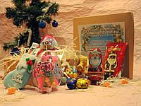 Новогодний детский набор со сладостями Арт.08