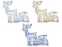Новогодний светодиодный олень с санами