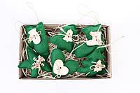 Набор елочных игрушек зеленый