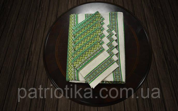 Набор столовый зеленый | Набір столовий зелений 230х140, фото 2