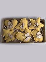 Набор елочных игрушек желтый