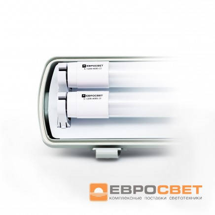 Светильник IP65  EVRO-LED-SH-40 c Led лампами 6500К (2*1200мм)