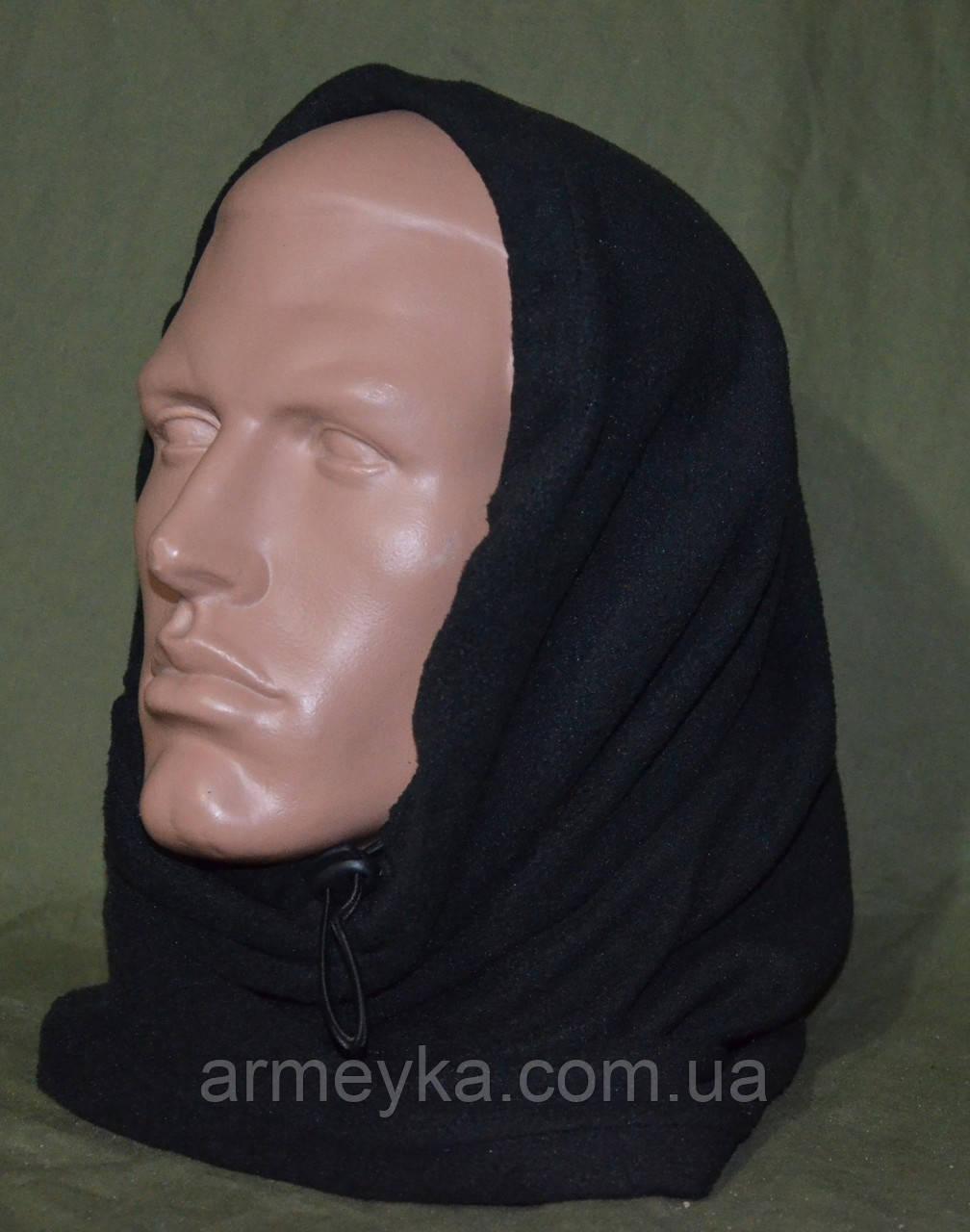 Зимний флисовый БАФ (шарф-труба)черный. НОВЫЙ, UA.