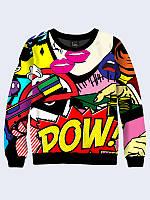 Красочный женский свитшот Pop art с креативным рисунком в стиле SWAG. XXS