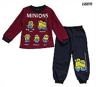 Теплый костюм Minions для мальчика. 2, 3, 5 лет