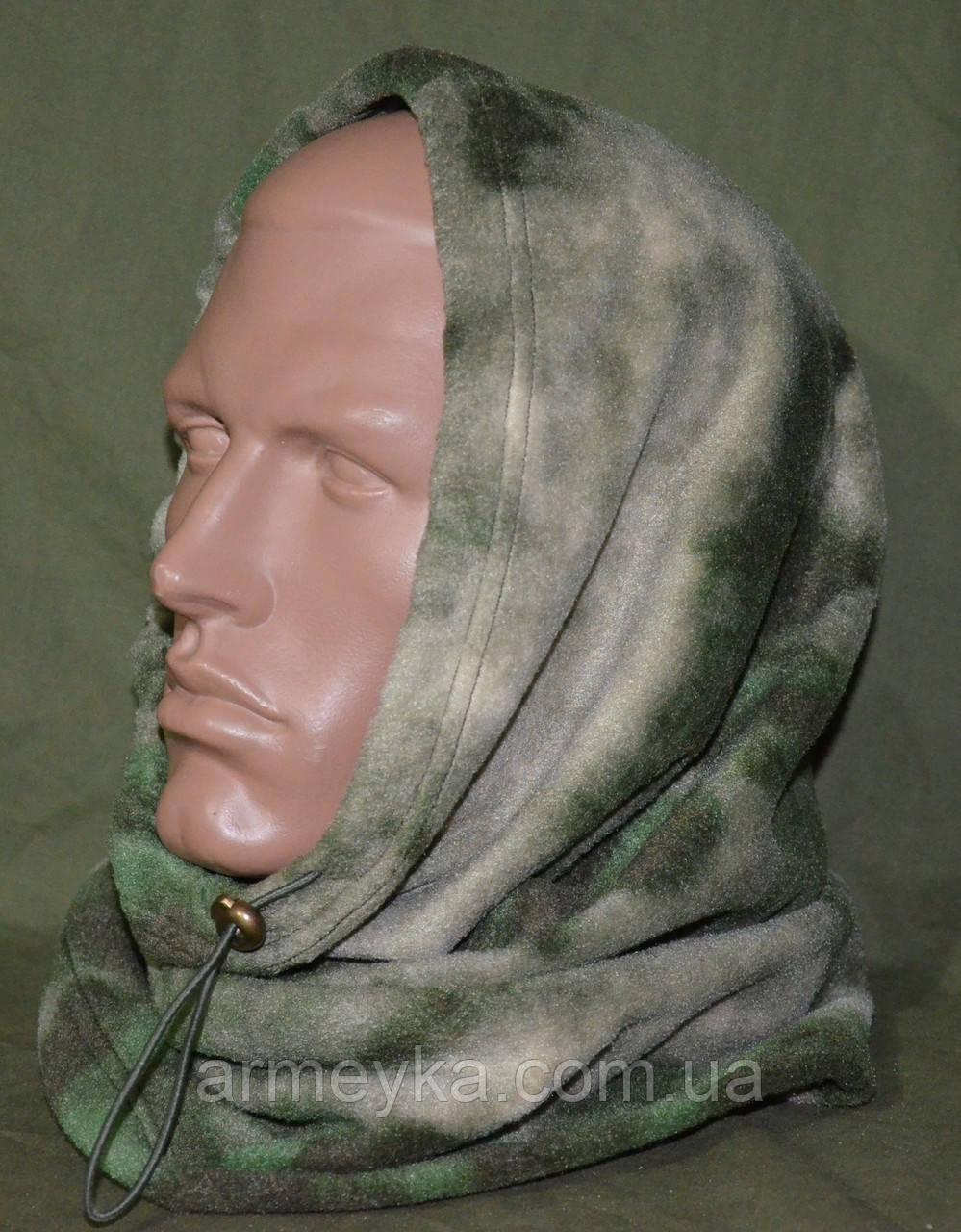 Зимний флисовый БАФ (шарф-труба) в расцветке  HDT-camo (A-Tacs). НОВЫЙ, UA.