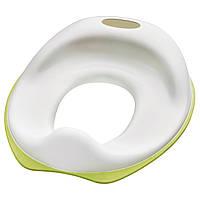 Сиденье для унитаза икеа TOSSIG, бело - зеленое, IKEA, 102.727.88