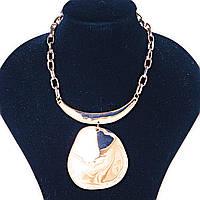 Металлическая цепь на шею со вставкой и подвеской Gold