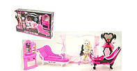 Кукла Monster High/ Монстер Хай Haunted с набором мебели: ванная, трюмо, кровать