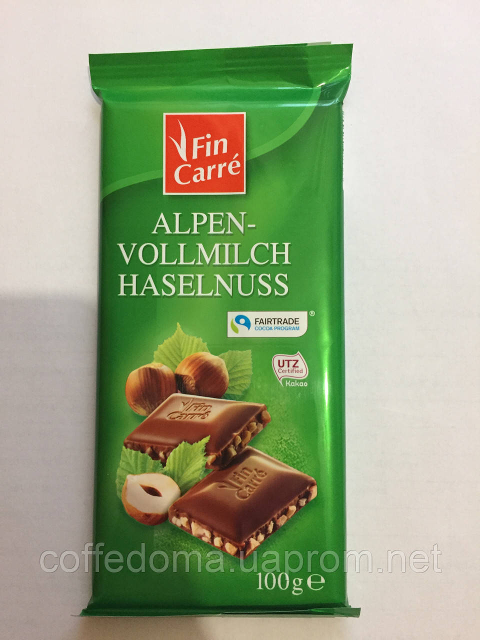 Fin Carre Alpen-vollmilch Haselnuss молочный шоколад с орешком 100 грамм