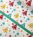 Новогодняя ткань польская елочки разноцветные, фото 2