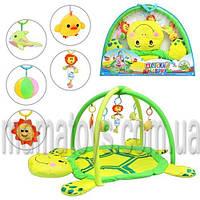 Коврик для младенца 898-12 B/0228-1 R мягкая черепаха, дуги с подвесками (5шт)