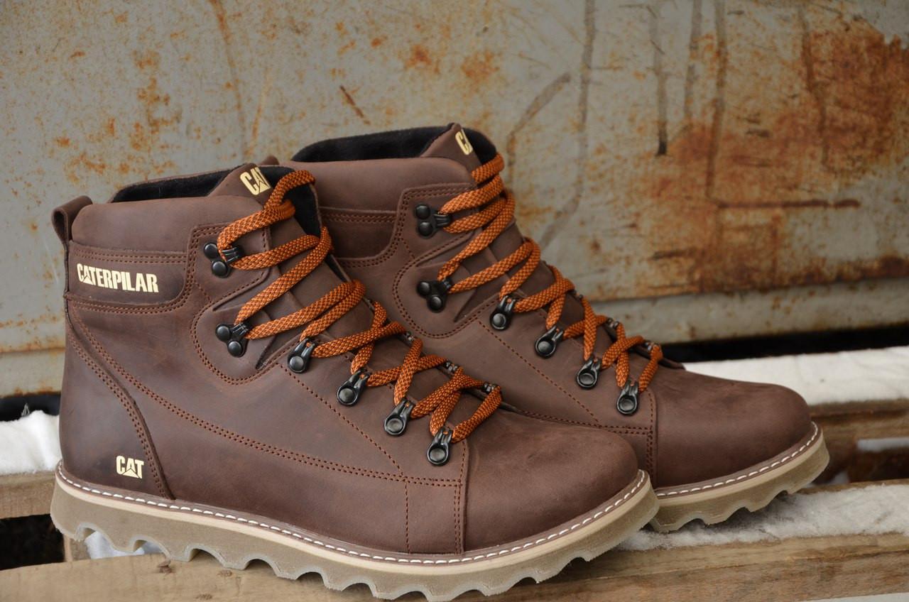 bc49541cf Ботинки мужские Caterpillar CAT коричневые топ реплика - Интернет-магазин  обуви и одежды KedON в