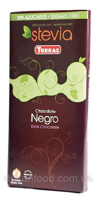 Torras Черный шоколад со стевией, без сахара